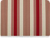 Jacquard deco fabric, stripes, red-brown, 140cm