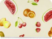 Nice decoration fabric, fruits, multicolour, 140cm