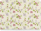 Nice deco fabric, flowers, multicolour, 140cm