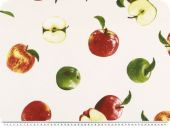 Nice decoration fabric, apples, multicolour, 140cm