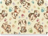 Nice deco jacquard, dogs, multicolour, 140cm