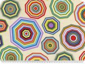 Fantastic decoration fabric, prism, beige-multicolour,140cm