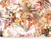 Peached deco fabric, flowers, multicolour, 140cm