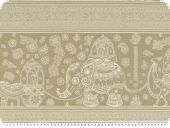 Deco fabric, indian pattern, beige-white, 140cm