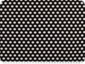 Cotton jersey, dots, white on black, 150cm