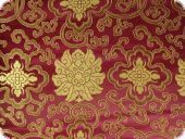 China Jacquard, flowers, bordeaux violet, ca. 90cm