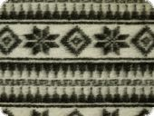 Wool fleece, norwegian pattern, black-greywhite, ca. 150cm