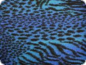 High qualiy walk fabric, fur pattern, blue, 150cm