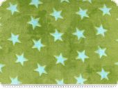 Superfleece, stars, green-blue, 150cm