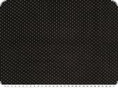 Baby corduroy, small dots, black, 140cm