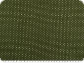 Baby corduroy, small dots, fern green, 140cm