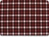 Woven cotton flannel, checkered, red-black-white, 140cm