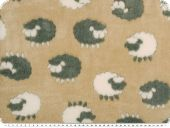Superfleece, sheep, beige-grey, 150cm