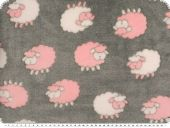 Superfleece, sheep, grey-rose pink, 150cm