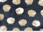 Superfleece, sheep, blue-beige, 150cm