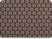 Viscose mousselins, gears, black-brown-pink, 140-142cm