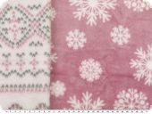 Superfleece doubleface, ice crystals, ant.-pink-white, 152cm