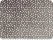 Doubleface Superfleece, dots, light grey-rosé, 150cm