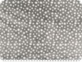 Doubleface Superfleece, dots, light grey-ecru, 150cm