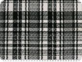 Knitwear, checked, solid qualitity, black- white, 150cm