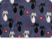 Superfleece, cats, blue, 150-155cm