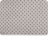 Dots-net fabric, soft touch, grey, 145cm