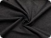 Knitted fabric, stretch, herringbone, black-grey, 148cm