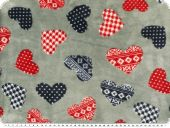 Superfleece, hearts, light grey, 150m