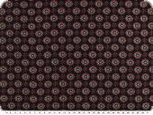 Mousseline, viscose print, small ornaments, navy-violet