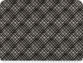 Knit fabric, jacquard, diamonds, black and white