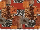 Poplin fabric, digital print, animal fur-patch, 150cm