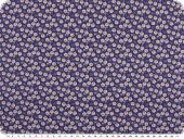 Cotton poplin, small flowers, digital print, blue, 150cm