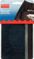 Gold zack, jeans patch, cotton, 14x7cm, ironable, assorted c