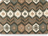Deco fabric, aztec pattern, brown-white, 140