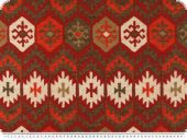 Deco fabric, aztec pattern, yred-white, 140