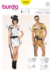 Burda Pattern costume police Gr. 32-42 and Gr. 44-54