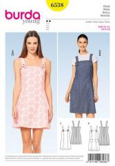 Burda Pattern, strap dress - panel seams, size: 32-44