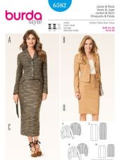 Burda Pattern, costume suit - blazer & skirt, size: 34-46