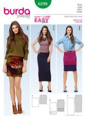 Burda pattern, narrow jersey skirt, size: 32-46