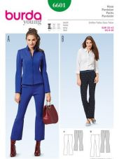 Burda Pattern, flared trousers, Size: 32-42