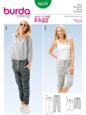 Burda Pattern, jersey pants, Size: 34-44