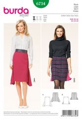 Burda pattern, skirt with godets, size: 36-46