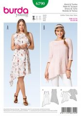 Burda pattern, dress & tunic, size: 42-54