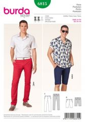 Burda pattern, pants, size: 44-54
