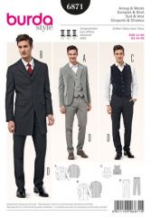 Burda pattern, suit & vest, size: 44-60