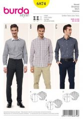 Burda pattern, shirt, size: 44-60
