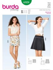 Burda pattern,skirt, size: 32-46