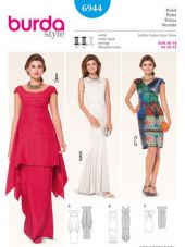 Burda pattern, dress, size: 36-48