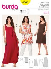 Burda pattern, shirt and dress, size: 42-52