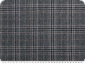 Highquality checked, wool fabric,  blue-grey, 155cm
